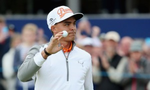 GULLANE, SCOTLAND - JULY 12:  Rickie Fowler of the United States waves on the 18th green during the final round of the Aberdeen Asset Management Scottish Open at Gullane Golf Club on July 12, 2015 in Gullane, East Lothian, Scotland.  (Photo by Andrew Redington/Getty Images) ORG XMIT: 560342447 ORIG FILE ID: 480509942